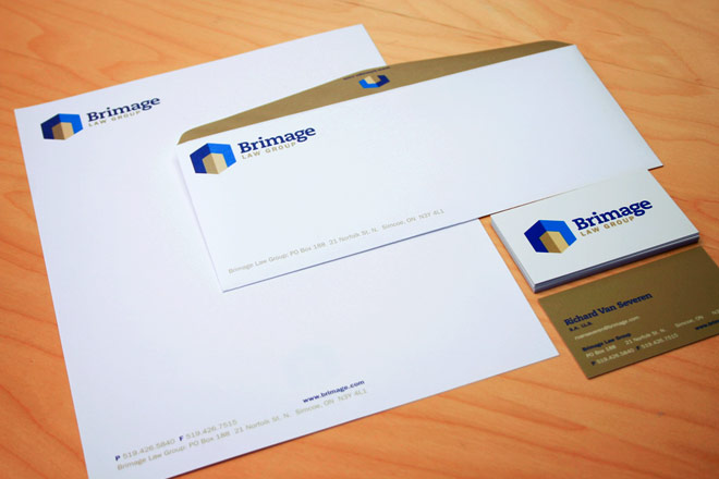 brimage stationery business cards design