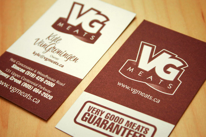 vg meats business cards