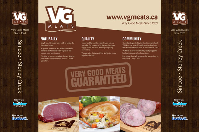 vg meats tradeshow booth material