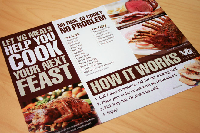 vg meats cooking brochure menu